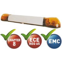 1250mm Two Module Amber LED Lightbar