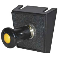 Single Switch Panel with Single Pole On/Off Push/Pull Amber Illuminated Switch