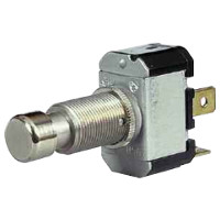 Push On/Push Off Single Pole Switch with Metal Button