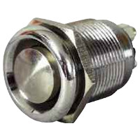 Push Button Switch, Stainless Steel Button and Nickel Plated Brass Body