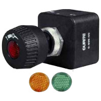 On/Off Rotary Switch. Red, Amber or Green Lens