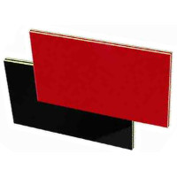 'Cobex' Engraving Laminate, Red/White/Red/White Sandwich