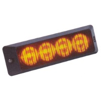 Dual Voltage 4 LED Amber Warning Lamp