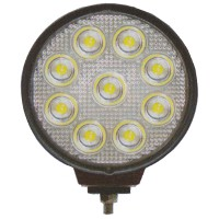 27 Watt 9 LED Heavy Duty Round Work Lamp