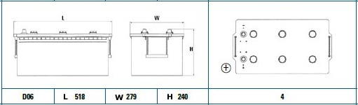 Exide 624SE diagram