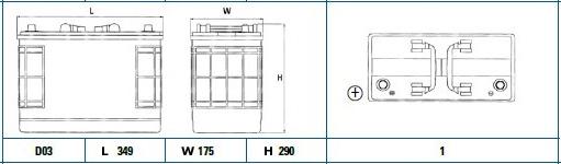 Exide 656SE diagram