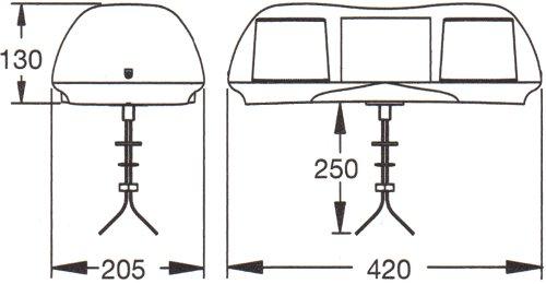 A451 Single Bolt Fixing LED Lightbar