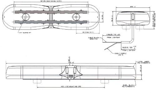 Aerolite Low Profile 770mm LED Lightbar